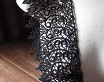 Black Lace for Black Bridal, Garments, Jewelry or Costume Design L 2099
