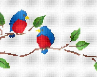 Cross Stitch Pattern, Cross Stitch Patterns, Cross Stitch, Counted Cross Stitch, Cross Stitch Chart, Xstitchpatterns, Cross Stitch Birds