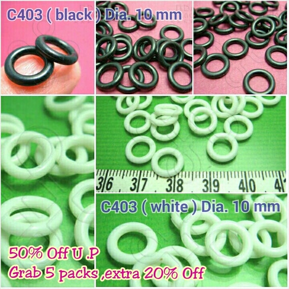 SALES -50% / C403 / 6Gm / 30Gm / size Dia. 10 mm x 13 gauge - Rubber O-Rings