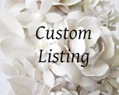 Custom Listing for Isabelle-Balance for 154 Paper Flower Place Cards