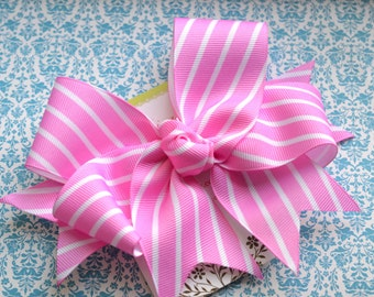 Pink Candy Stripes XL  Diva Bow