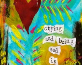 """Crying and Being Sad 5""""x7"""" Blank Condolence/Sympathy Card with Envelope, Wholesale Cards, Wholesale Stationery"""