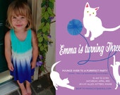 A PURR-fect Kitty Cat Birthday Party Invite