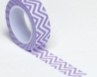 Purple Chevron Washi Tape . 10 yards (1 roll)