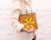 Mustard Yellow Flower Ipad Case - Ready to Ship