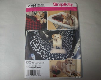 New Simplicity Small Dog Accessories Pattern 2984  (Free US Shipping)