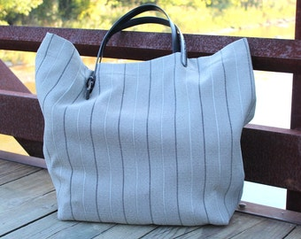 Oversized Tote - Extra Large Tote - Sport Tote - Tailored -  Belt Handles