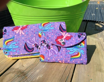 My Little Pony Diabetic Supply Tote/Bag/Case & Matching Clutch