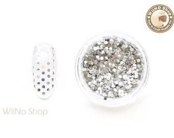 1mm Silver Round Dots Glitter / Nail Art Craft