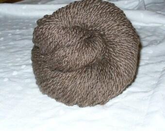 Handspun Natural Brown Wool - SOFT