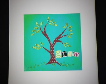 Grow Tree 8X10 print with mat