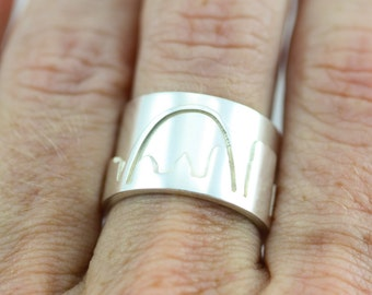 St. Louis Skyline Ring Sterling Silver (Made to Order)