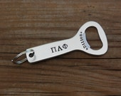 Pi Lambda Phi Bottle Opener - Fraternity Custom Key Chain, Big Brother Little Brother Gift, Fraternity Graduation Gift