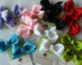 NEW----Little Baby Toddler Girl Hair Bows 2 inch----You Pick Colors-----Piggies Set of 2----