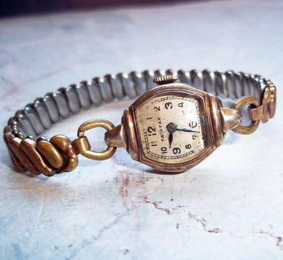 Vintage Fairfax 7 Jewel Ladies Swiss Watch Art Deco Style for