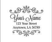 Personalized Custom Made Handle Mounted Return Address Rubber Stamps R211