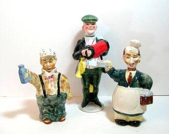 Vintage Figural Ceramic Liquor Bottles