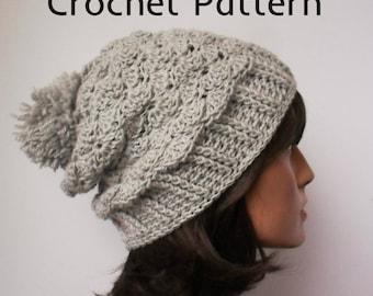 Crochet Pattern for Slouchy or Not Beanie Art of Zen Crochet hat toque beanie slouchy hat Digital downlaod