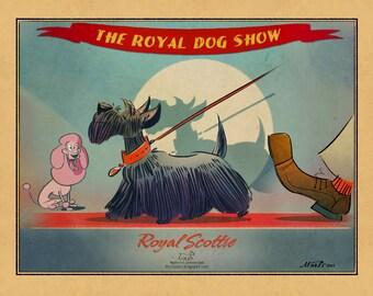 The Royal Scottie digital print