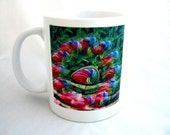 Coffee Mug Beautiful Rainbow Colors Flower Garden Unique Gift Ideas for Housewarming Gifts Cool Gifts for Her Birthday Present