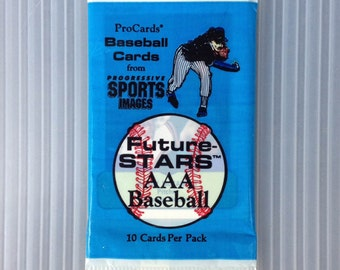UNOPENED Pack 1990 Triple A  Future Stars Baseball Pack