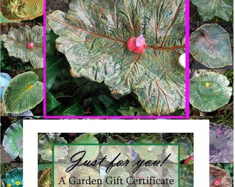 GARDEN-LOVER Bird bath / feeder / SCULPTURE - Perfect Hostess or Thank you gift - Let them choose from shop items - 50 Dollar Gift Cert