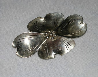 Vintage Stuart Nye Sterling Dogwood Brooch or Pin in Sterling Silver