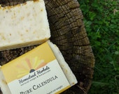 Pure Calendula Soap / Made with organic botanicals / unscented mild soap / Baby Soap / organic, vegan, unscented
