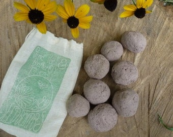 Seed Balls / Seed Bombs - Pollinator-Friendly Eco Seed Balls - to attract birds, bees and butterflies