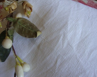 Antique French Textured Linen Fabric / Vintage Natural Linen Cloth / Rustic French Country Home / Upholstery Curtain Drapes Cushions