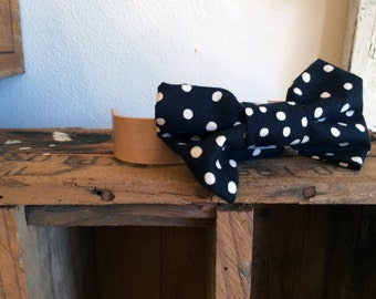 Doggie Bow Tie - Black Polkadot
