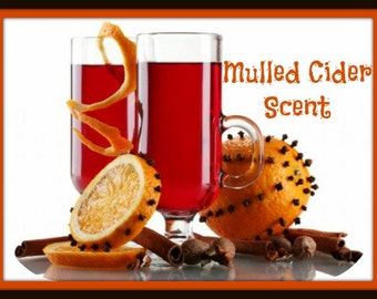 MULLED CIDER Scented Soy Melts - Fall Winter Holiday Scent - Soy Wax Wickless Candle - Highly Scented - Hand Poured In USA