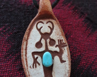 Man with Goat Hand Shaman with Turquoise Gem