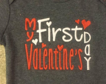 First Valentines Day Shirt Custom Personalized