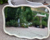 Perfectly Chippy Vintage French Large Mirror