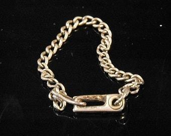 Vintage Child's Charm Bracelet Starter, Sterling, Signed & Hallmarked, Ultra Secure Sister Clasp Excellent Vintage Condition