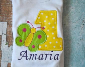 Butterfly Birthday Shirt, Girls Birthday Shirt
