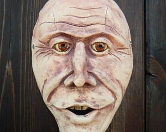 Baby Boomer ceramic Wall Mask