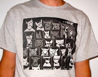 Pet Flicks hand printed t shirt