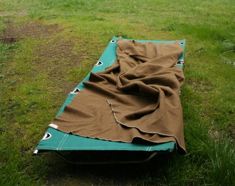 Vintage Camping Cot Glamping 50s or 60s Green Cotton and Aluminum From Nowvintage on Etsy