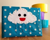 Happy Rain Cloud Duct Tape Wallet - Polka Dot Bifold