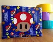 Mario Mushroom Duct Tape Wallet - Super Mario Bifold