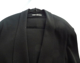 Issey Miyake Mens Large Structured Cardigan Jacket
