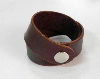 Brown Leather Wrap Bracelet Leather Bracelet Leather Cuff Bracelet