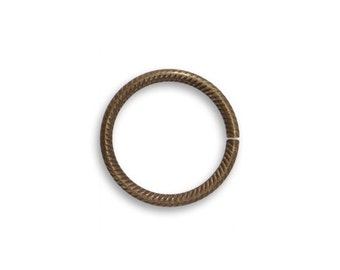 8 pieces Brass Jump Rings 15.5mm Rib Cable Jump Rings Vintaj Item JR109