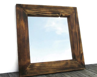 Reclaimed wood floor mirror rustic full length mirrors for Wood floor length mirror