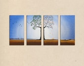 four seasons painting - measuring 60 x 30 inches