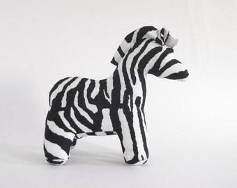 Zebra stuffed animal wildlife toy plush