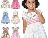 Little Girls' Fabulous Dresses - Simplicity 1452 - New Sewing Pattern, Sizes 3, 4, 5, 6, 7, and 8