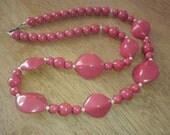 Vintage Valentine Ruby Red Necklace
